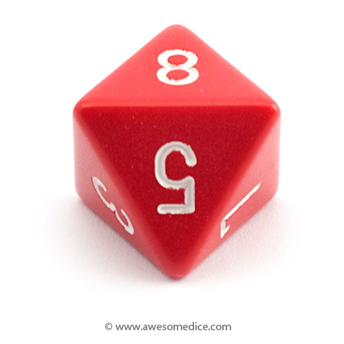 Single Opaque Red d8