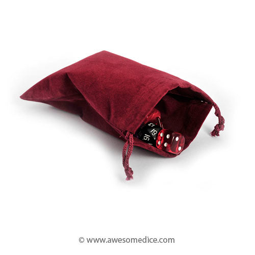 Burgundy Red Dice Bag