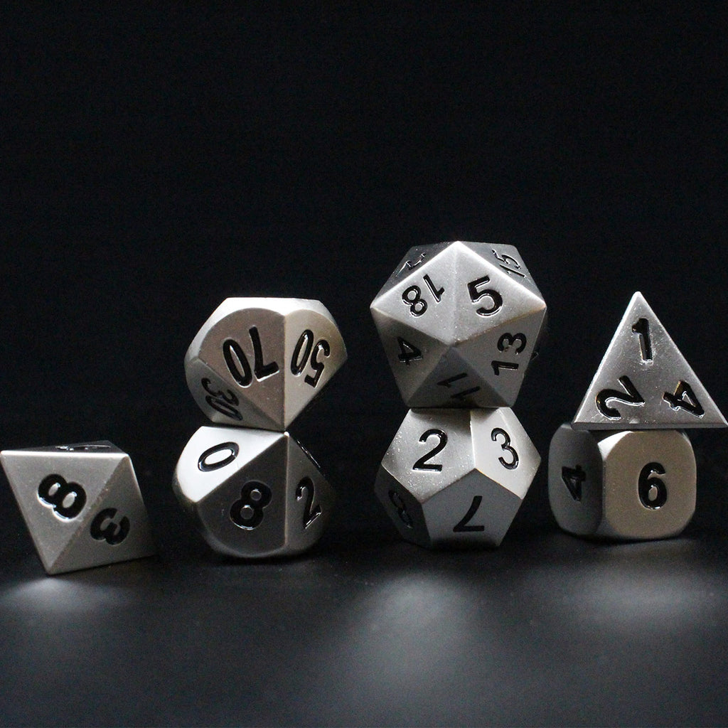 Die Cast Aluminum Metal 7-Dice Set