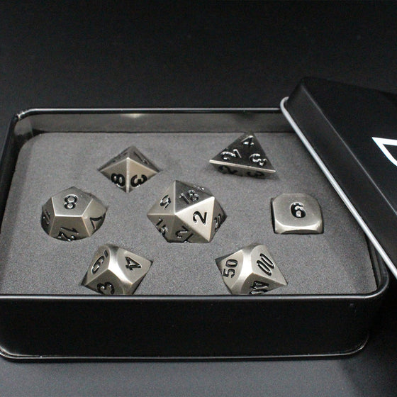 Die Cast Aluminum-Zinc Metal 7-Dice Set