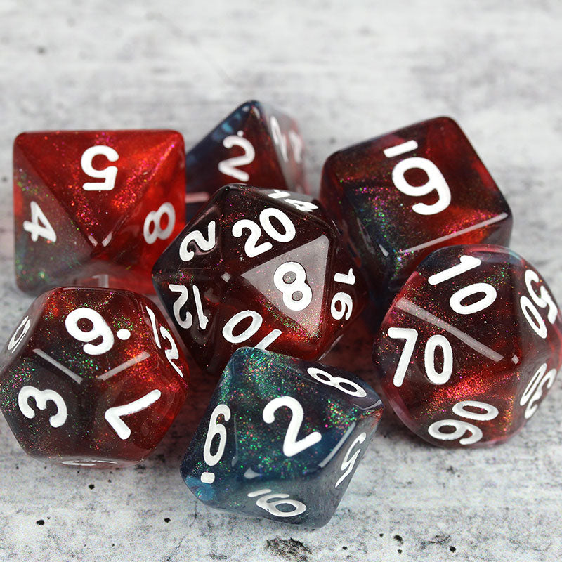 dragon's breath RPG dice set