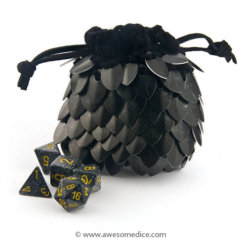 Black Dragonscale Dice Bag - Small