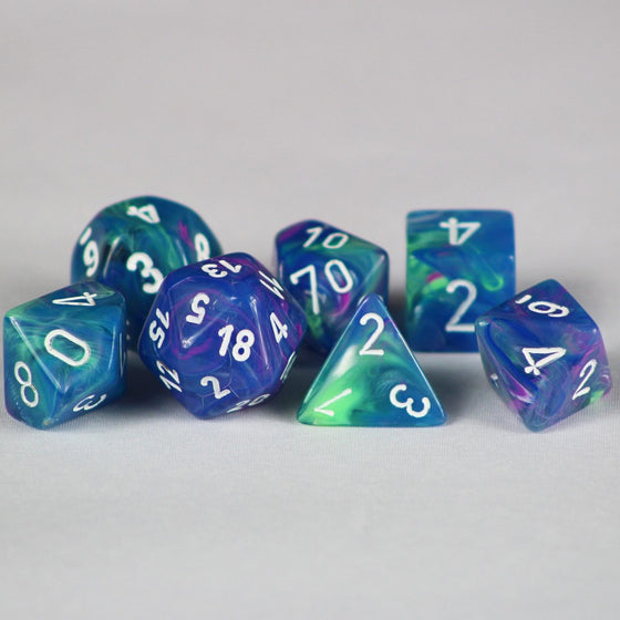 Festive Waterlily 7-Dice Set