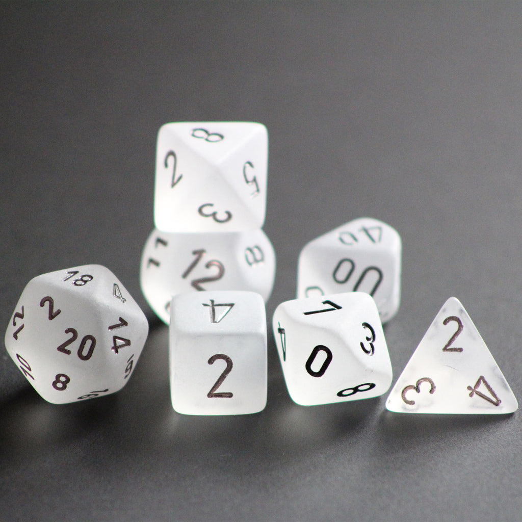 Frosted Clear 7-Dice Set