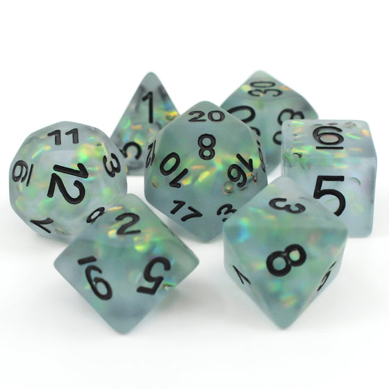 Frosted Mermaid RPG Dice Set