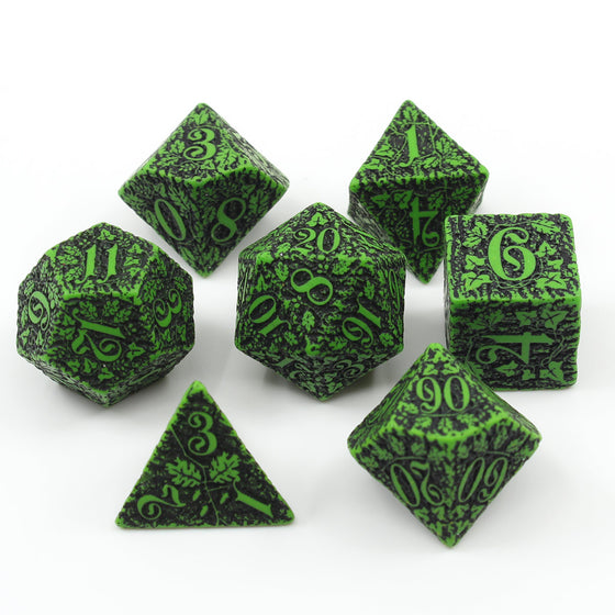 Green Forest 7-Dice Set