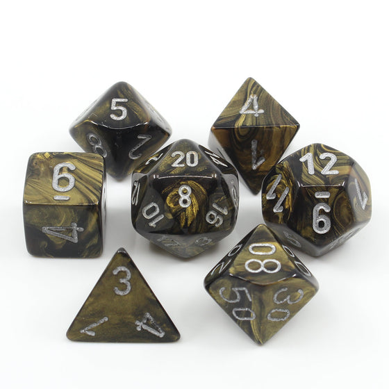 Leaf Black Gold 7-Dice Set