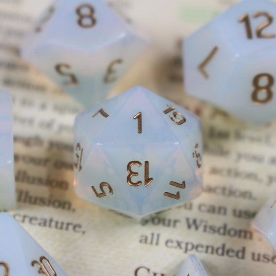 Opalite Dice with Gold Ink