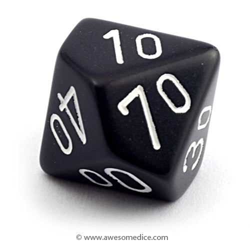 Single Opaque Black d10 Percentile