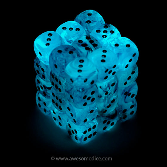 Pink Ghostly Glow 36d6 Dice Set