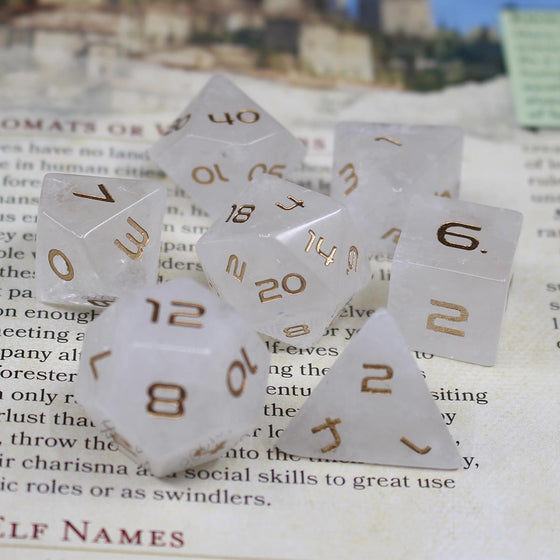 Quartz Crystal Dice Set