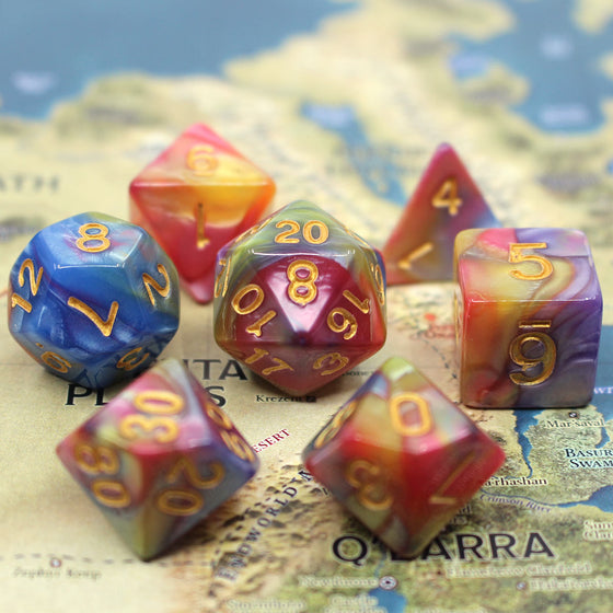 Radiant Sky 7-Dice Set