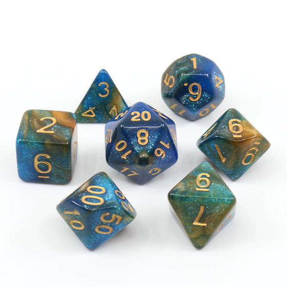 River at Dusk 7-Dice Set