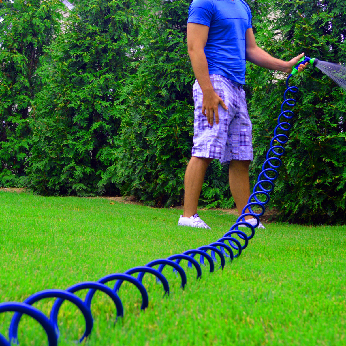 Ray Padula coil hose easily stretches