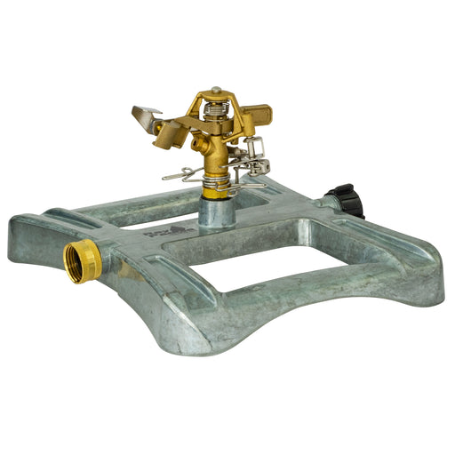 Brass Pulsating Sprinkler on In-Series Metal Sled Base