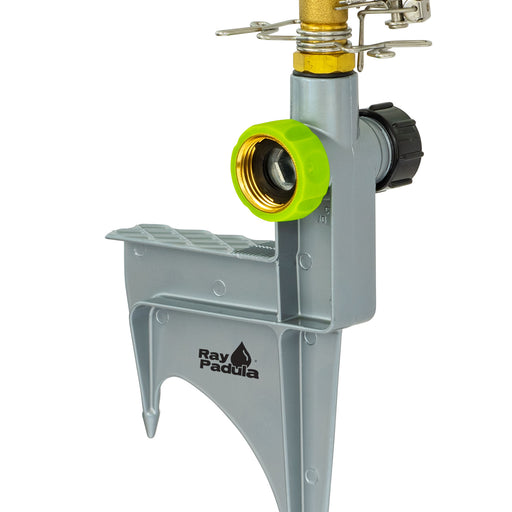Brass Pulsating Sprinkler on In-Series Deluxe Metal Step Spike