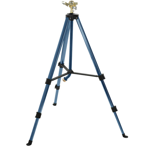 Brass Pulsating Sprinkler on Telescoping Tripod