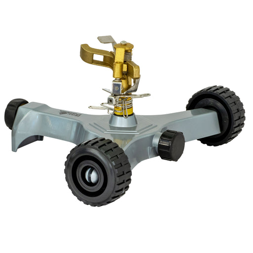 Brass Pulsating Sprinkler on In-Series Metal Wheel Base