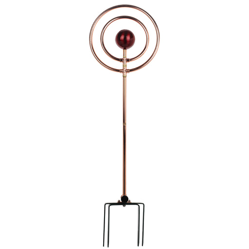 42 in. Decorative Revolving Sprinkler on In-Series 4-Prong Spike (red ball)