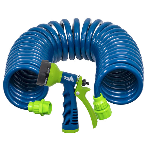 25 ft. Coil Hose with Multi-Pattern Nozzle
