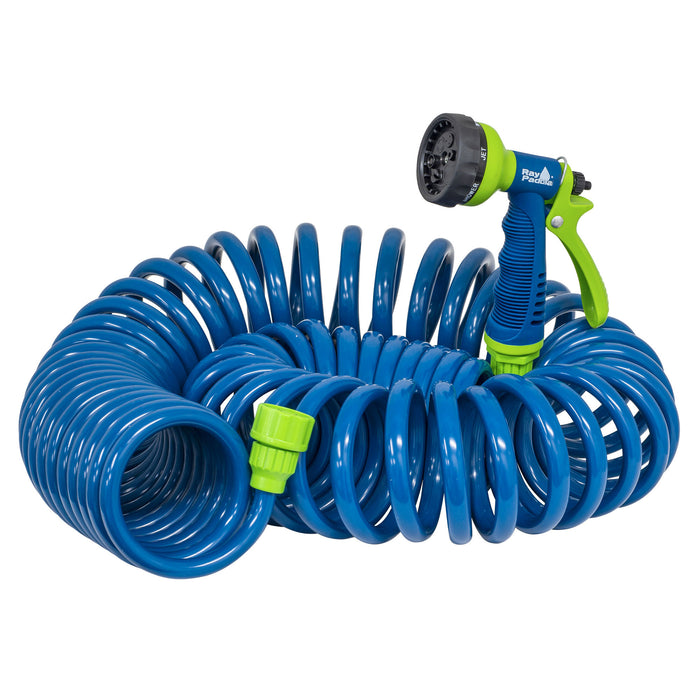 50 ft. Coil Hose with Multi-Pattern Nozzle
