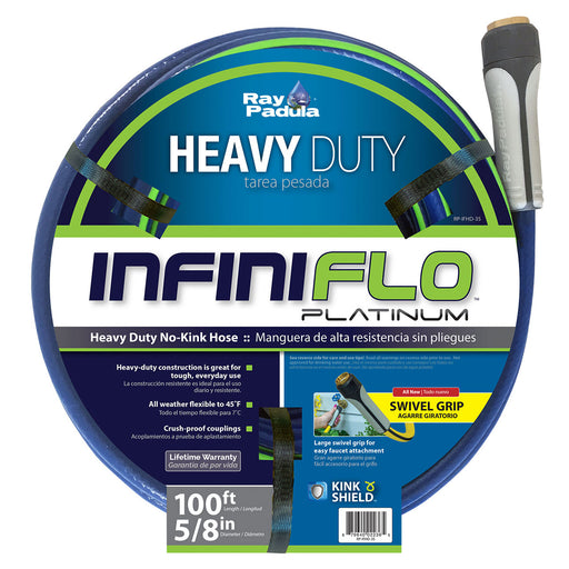 5/8 in. x 100 ft. Heavy Duty Garden Hose with Large Swivel Coupling