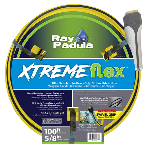 5/8 in. x 100 ft. XtremeFlex Hybrid Polymer Kink Free Ultra-Flexible Hose with Large Swivel Coupling