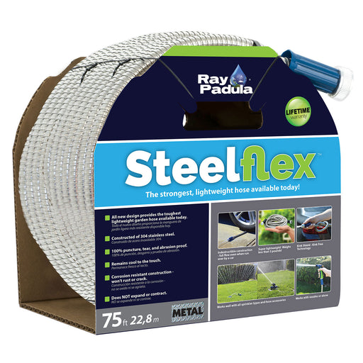 75 ft. SteelFlex Stainless Steel Metal Garden Hose