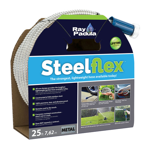 25 ft. SteelFlex Stainless Steel Metal Garden Hose