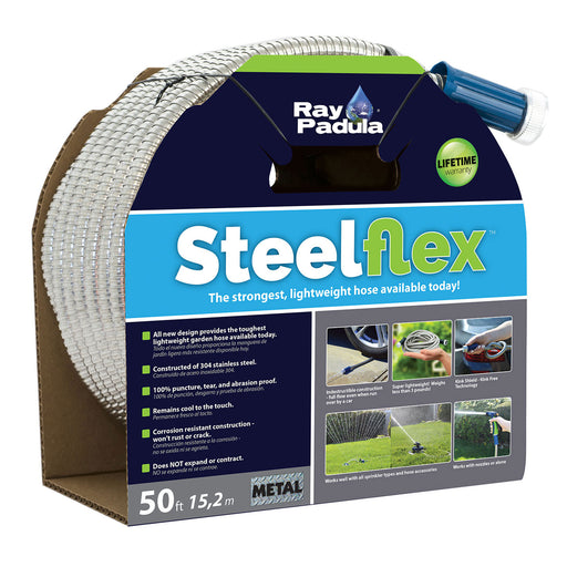 50 ft. SteelFlex Stainless Steel Metal Garden Hose