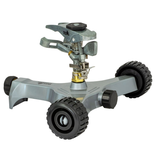Deluxe Metal Pulsating Sprinkler on In-Series Metal Wheel Base
