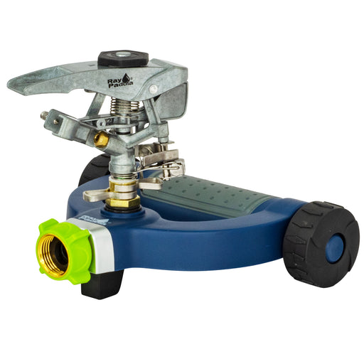 Deluxe Metal Pulsating Sprinkler on Modern Wheel Base