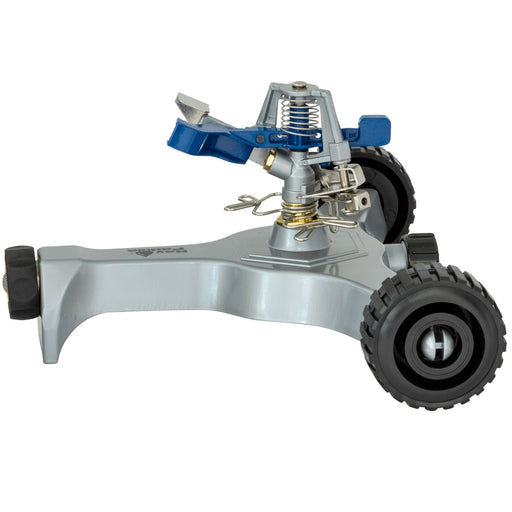 Classic Metal Pulsating Sprinkler on In-Series Metal Wheel Base