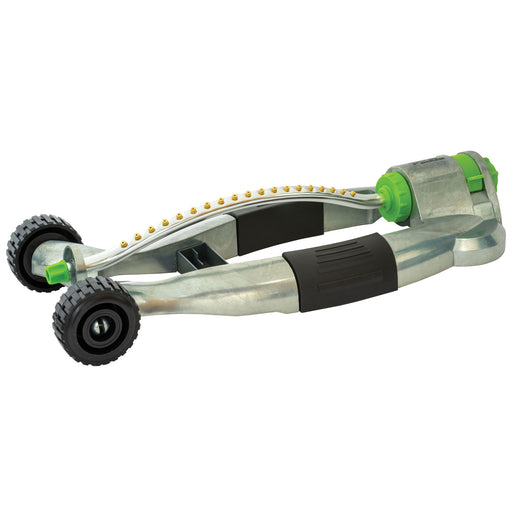 Turbine Metal Wheel Base Oscillating Sprinkler with H2O Tank, 3,600 sq. ft.