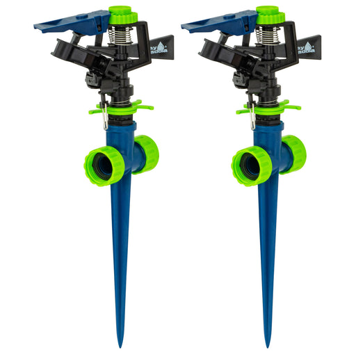 Plastic Pulsating Sprinkler on In-Series Plastic Spike (2-Pack)