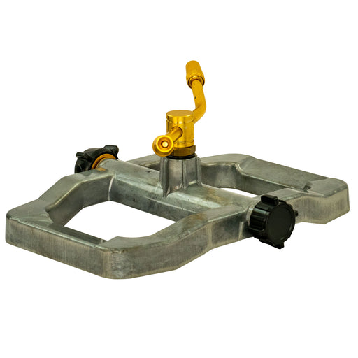 Brass 2-Arm Revolving Sprinkler on In-Series Metal Sled Base