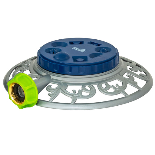 8-Pattern Turret Pattern Sprinkler on Metal Decorative Base