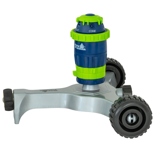 Silent Pulse 5-Pattern Gear Drive Sprinkler on In-Series Metal Wheel Base