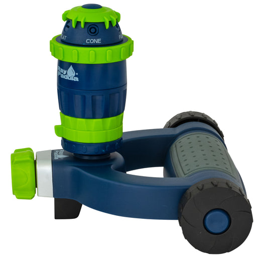 Silent Pulse 5-Pattern Gear Drive Sprinkler on Modern Weighted Wheel Base