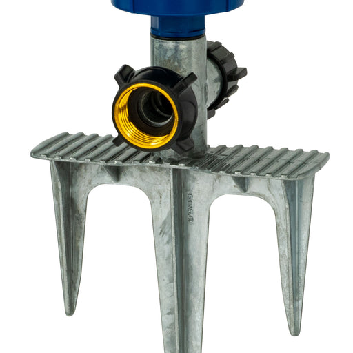 Silent Pulse 5-Pattern Gear Drive Sprinkler on In-Series 3-Prong Metal Step Spike