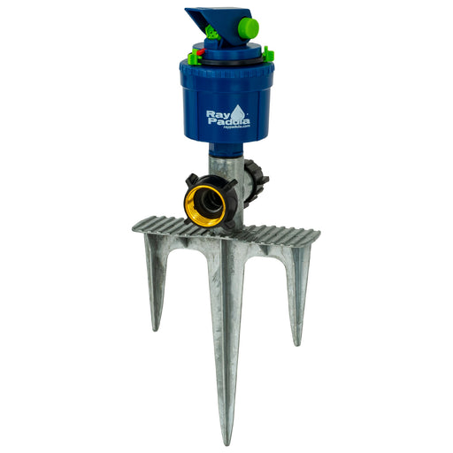 Silent Pulse Gear Drive Sprinkler on In-Series 3-Prong Metal Step Spike