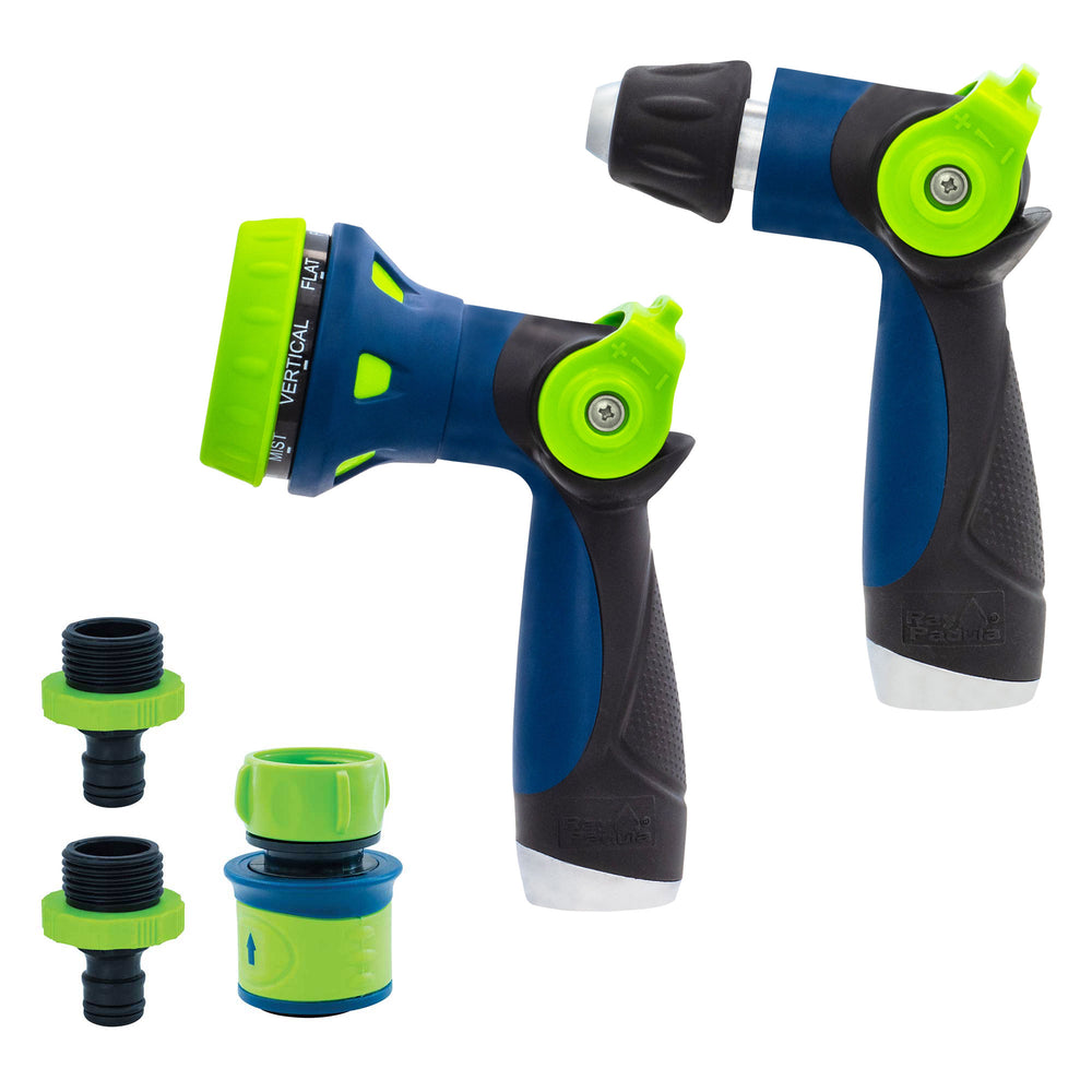Thumb Control 8-Pattern and Adjustable Nozzle with Quick Connects (5-Pack)