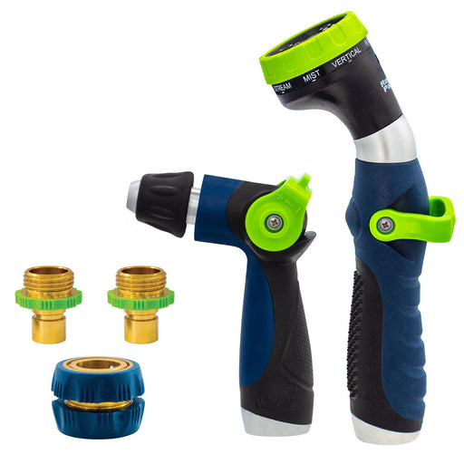 Thumb Control Deluxe 8-Pattern and Adjustable Nozzle with Metal Quick Connects (5-Pack)