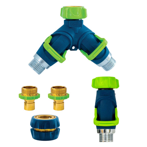 Thumb Control Splitter, Shut Off, and Quick Connect Hose Accessory Set (5-Pack)