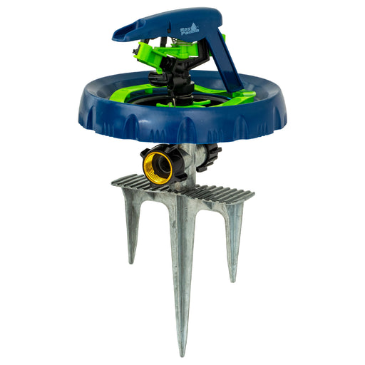 Smart Spray Contour Pulsating Sprinkler on 3-Prong In-Series Metal Step Spike