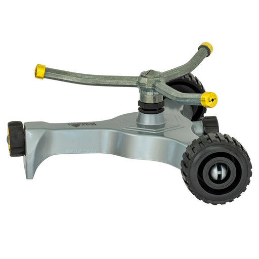 Metal Classic 3-Arm Revolving Sprinkler on Metal In-Series Wheel Base