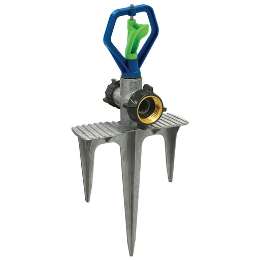 Whirling Revolving Sprinkler on In-Series 3-Prong Step Spike