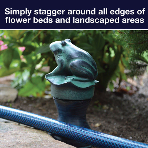 Heavy-duty Ceramic Frog Hose Guide with Deluxe Metal Spike