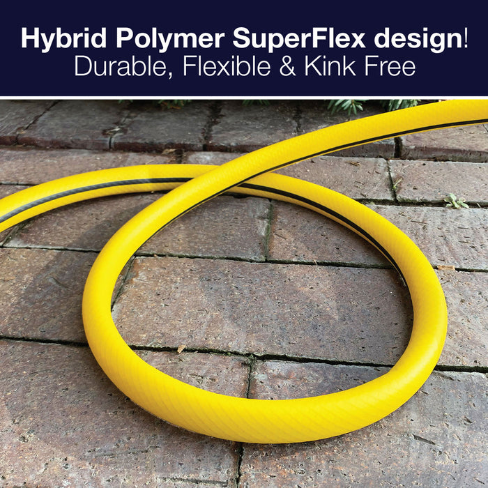 5/8 in. x 50 ft. XtremeFlex Hybrid Polymer Hose with PRO Metal Rear Trigger 8-Pattern Nozzle Set (2-Pack)