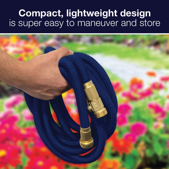 50 ft. MagicFlex PRO Duty Expanding Garden Hose with Brass Couplings (2-Pack)